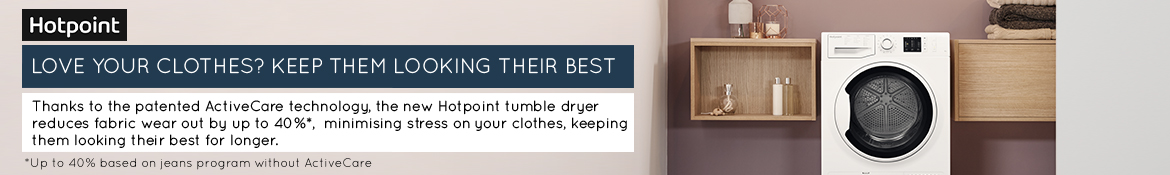 Hotpoint ActiveCare Tumble Dryer Banner