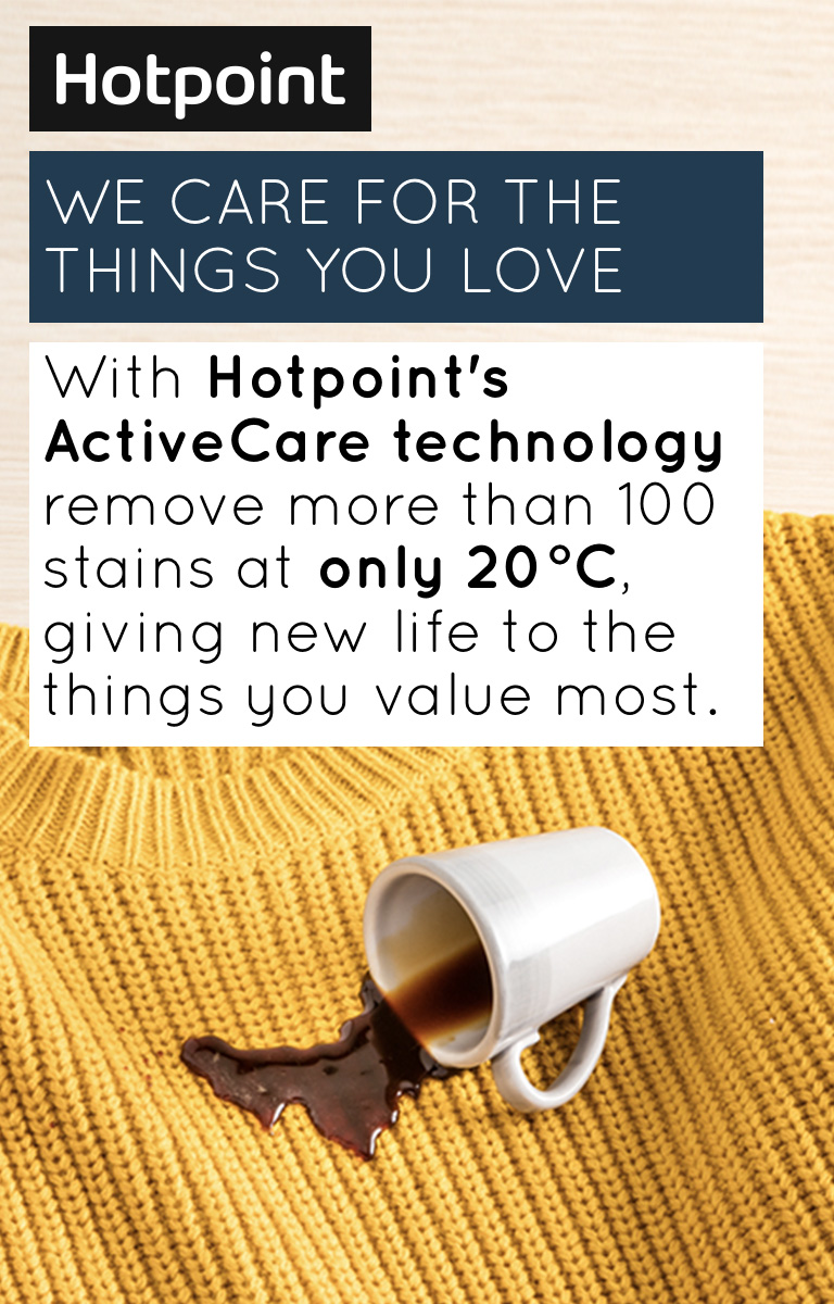 Hotpoint ActiveCare Washing Machine Banner